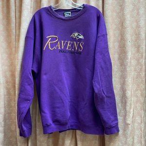 Vtg Baltimore Ravens Embroidered Sweatshirt XXL